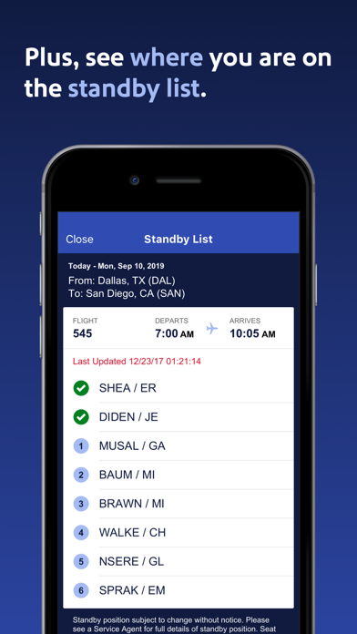 Southwest Airlines Screenshot on iOS