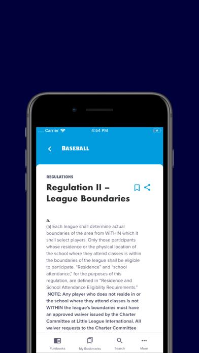 Little League Rulebook Screenshot
