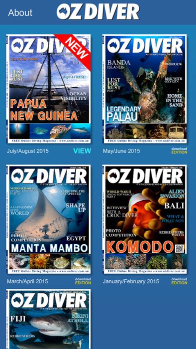 OZDiver Magazine screenshot two