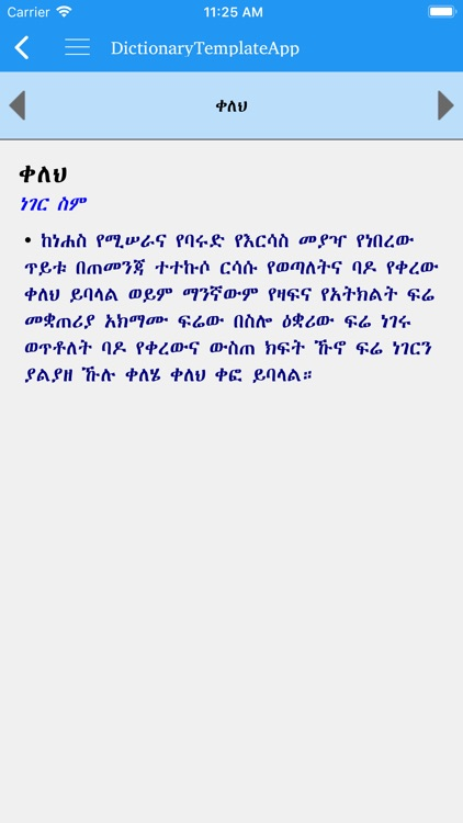 Amharic Amharic dictionary screenshot-1