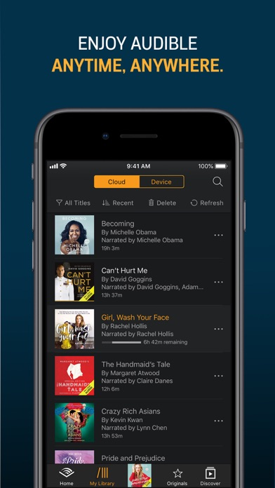 Download Audible audiobooks & originals for Android