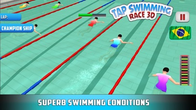 水泳レース3Dをタップするのおすすめ画像1