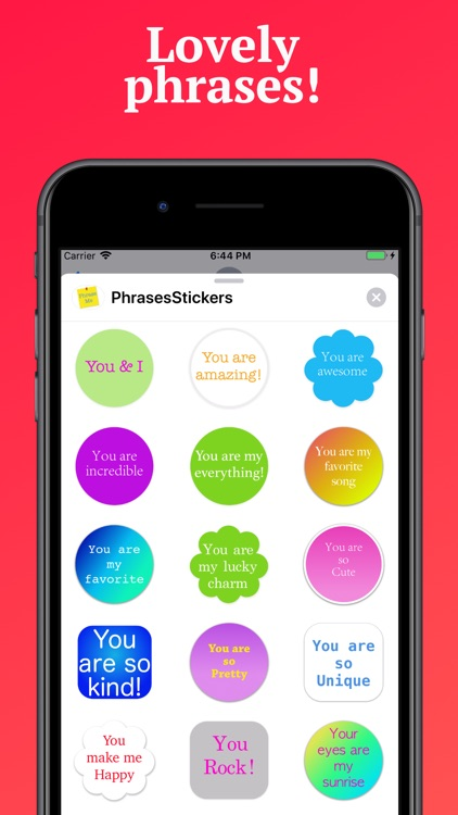 Phrases Stickers for iMessage screenshot-4