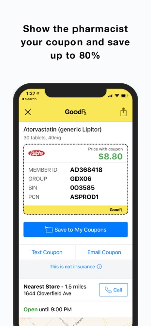 dd9aa04a63ea GoodRx – Save On Prescriptions on the App Store