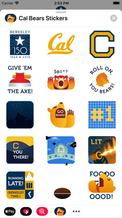 Cal Bears Stickers