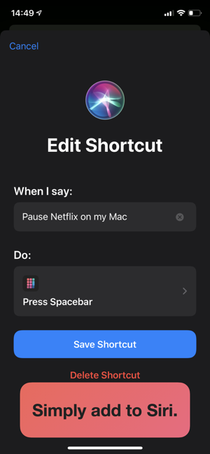 ‎Shortcut Remote Control Screenshot