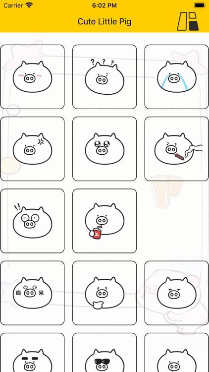 Cute Little Pig - Sticker screenshot-3