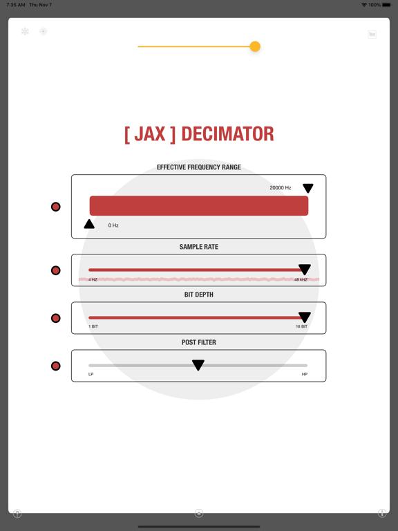 JAX Decimator (Audio Unit) screenshot 10