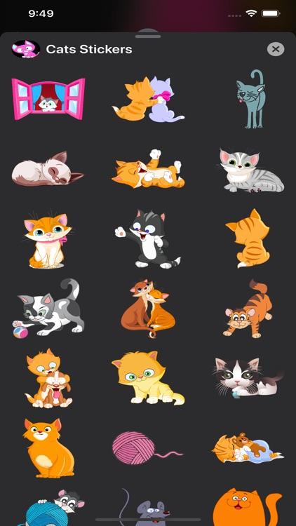 Cats Stickers & Emojis screenshot-3