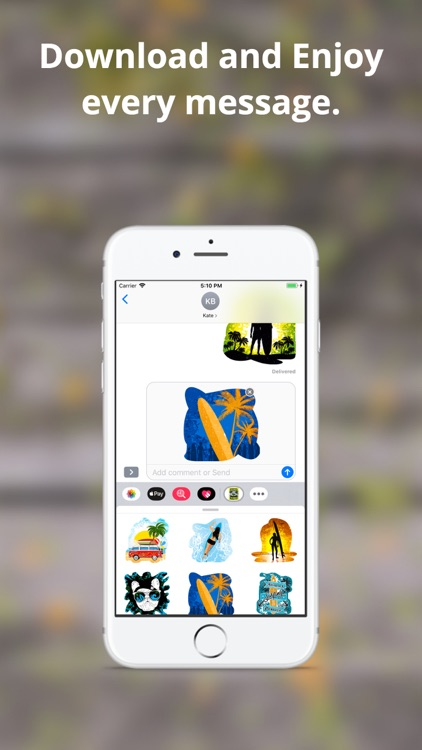 Surfer Emoji Stickers screenshot-4