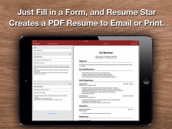 Resume Star 2: Pro CV Designer screenshot
