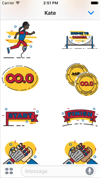 Achilles Marathon Sticker Pack