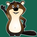 Beaver stickers for Messages