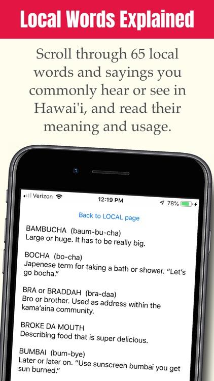 Hawai'i Visitor Dictionary screenshot-3