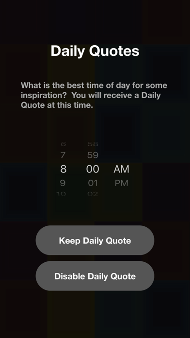"Daily Quotes"" and Wallpapers Screenshot"