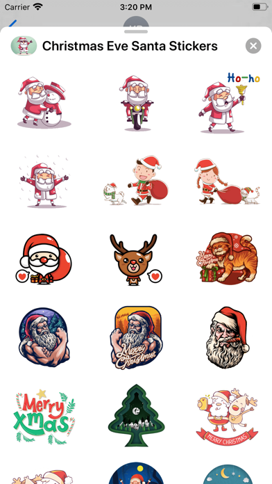 Christmas Eve Santa Stickers screenshot 2