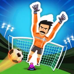 Soccer Players vs Robot Keeper