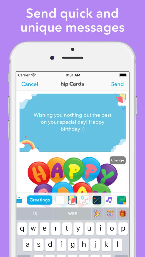 Hip Birthday Reminder App