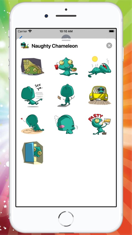 Naughty Chameleon Stickers