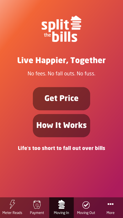 Split the Bills Customer App screenshot two
