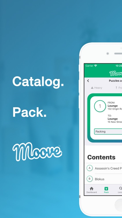 MooveMe: Let's Get Packing