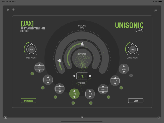 JAX Unisonic (Audio Unit) screenshot 3