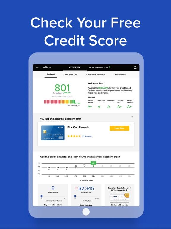 Credit.com Mobile: Free Credit Score, Monitoring & Credit Manager screenshot
