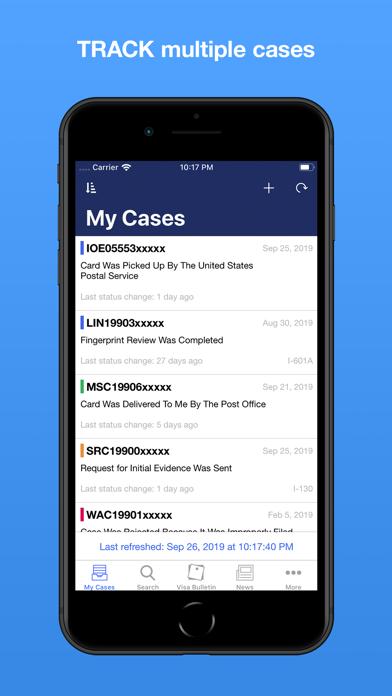 Screenshot #1 pour Case Tracker for USCIS