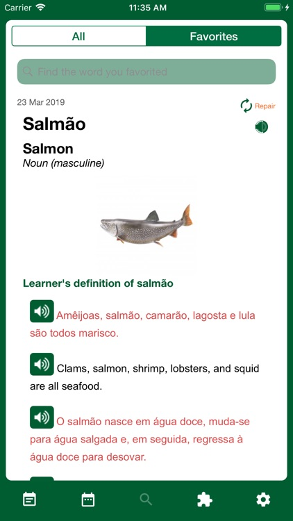 Portuguese Word of the Day screenshot-4