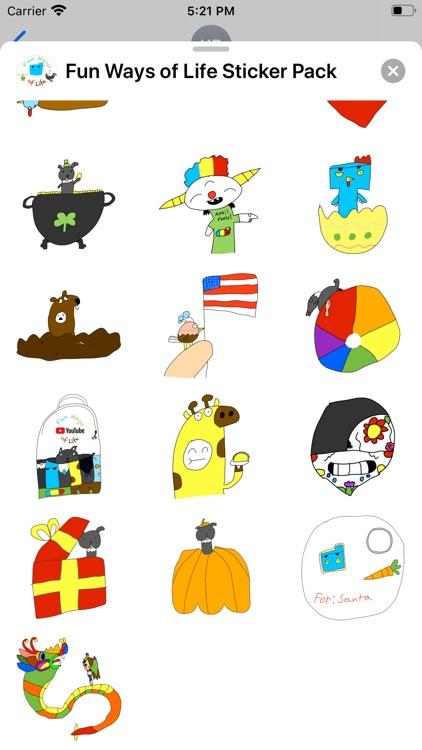 Fun Ways Of Life Sticker Pack