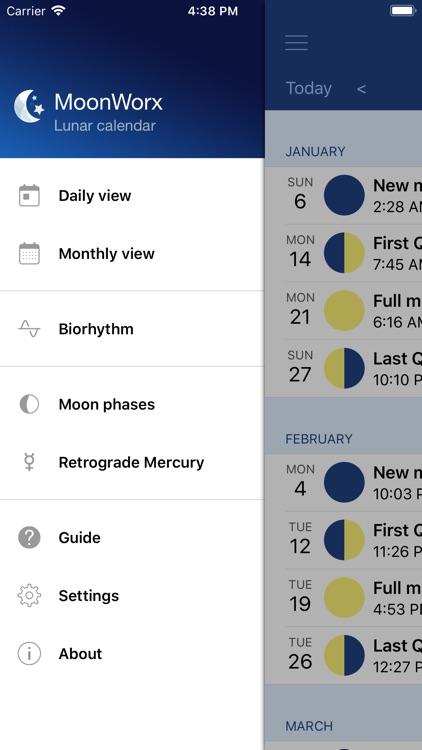 MoonWorx Lunar Calendar screenshot-6