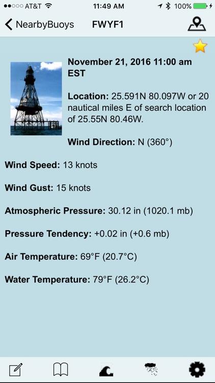 NOAA Buoy and Tide Data screenshot-3