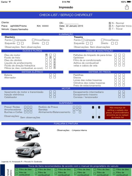 Checklist Chevrolet - Atria screenshot-3