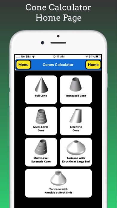 Cones Calculator screenshot 1