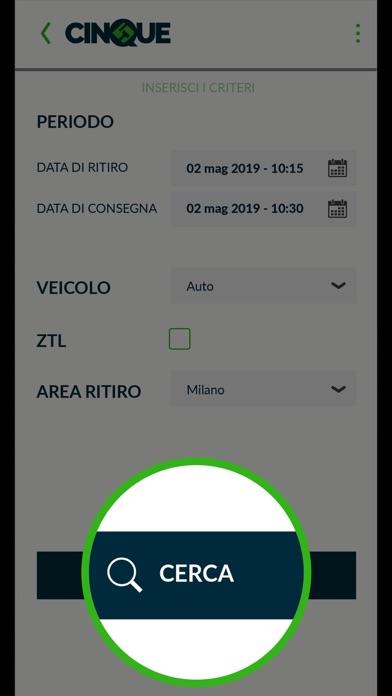 Cinque car sharing Screenshot