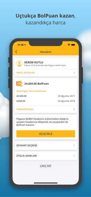 0bcb8857488a2 Pegasus - Ucuz Uçak Bileti App Store'da