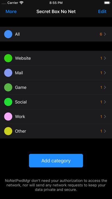 NoNetPwdMgr Screenshots
