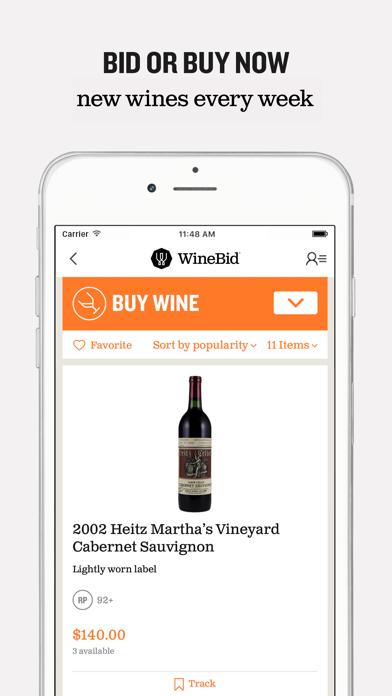 WineBid screenshot two