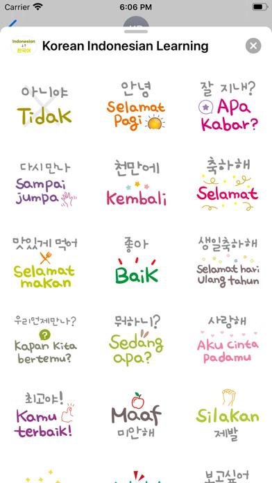 Korean Indonesian Learning screenshot 3
