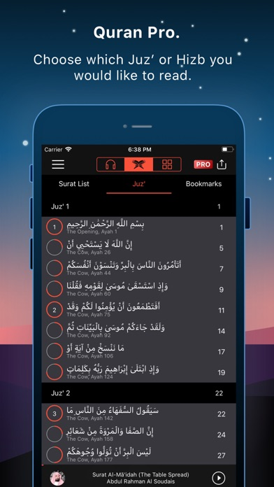 Screenshot for Quran Pro Muslim القرآن الكريم in India App Store
