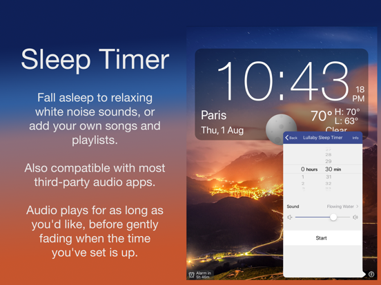 Nightstand Central - A Music Alarm Clock with Sleep Timer, Weather, and Photos screenshot