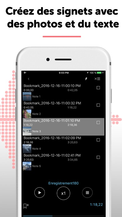 Screenshot for ALON Dictaphone Memo et notes in France App Store