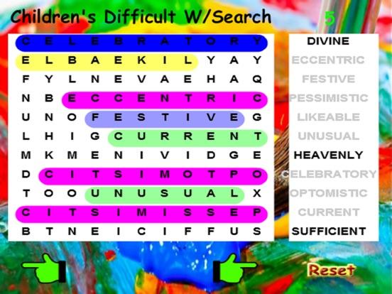 Kids Difficult Word Search screenshot 5
