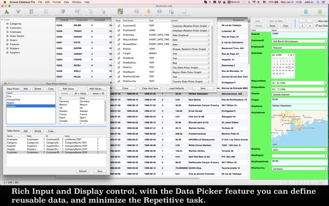 Editor for Access Database