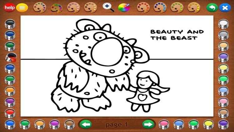 Fairy Tales Coloring Book screenshot-3