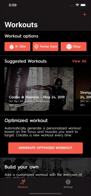Optimize fitness on the app store