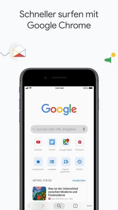 Screenshot for Google Chrome in Germany App Store