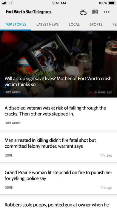 Fort Worth Star-Telegram News Screenshot