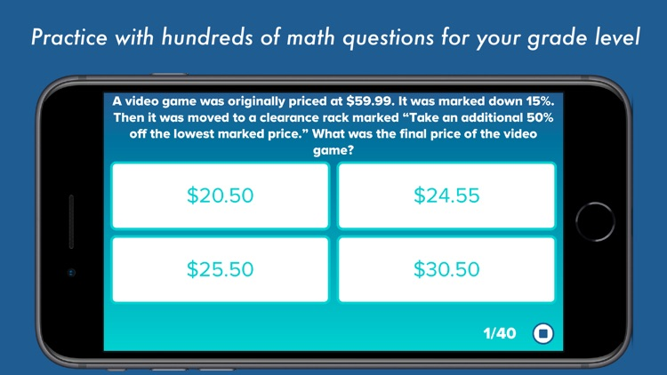 8th Grade Math Testing Prep screenshot-0