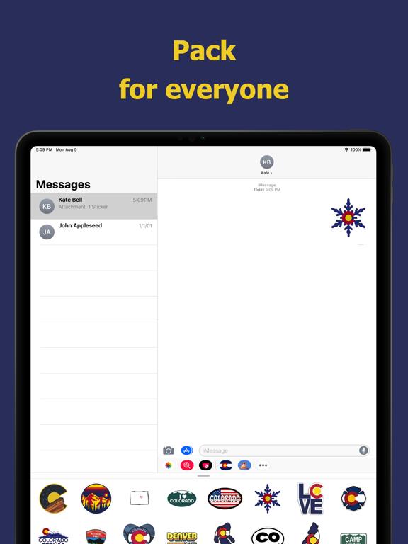 Сolorado emojis - USA stickers screenshot 9